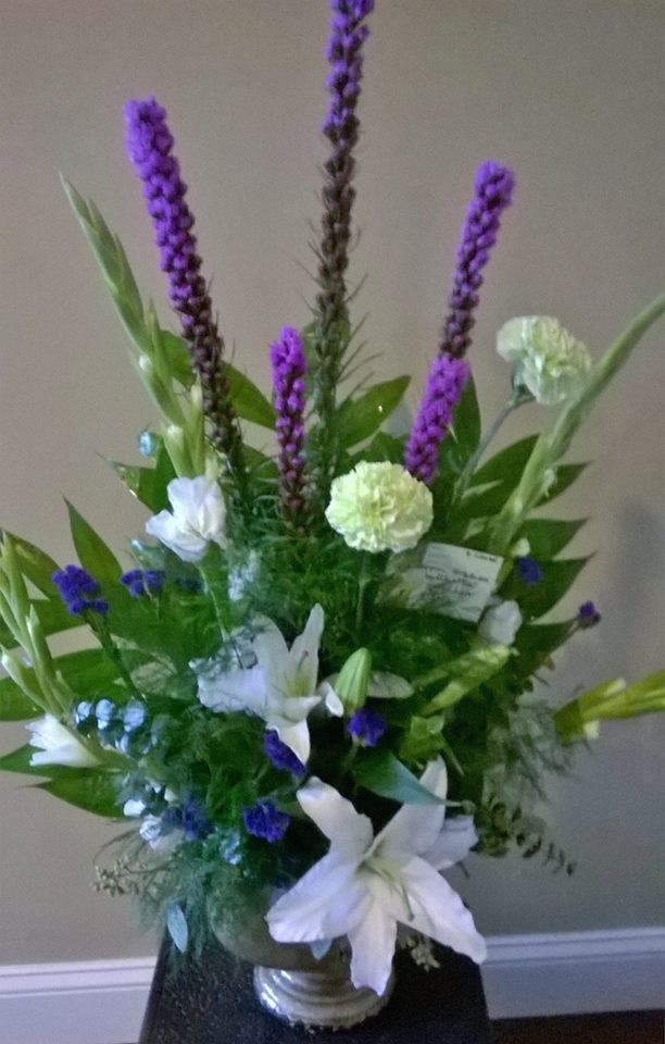 Lovely arrangement from Wilma's Flowers in Jasper, AL