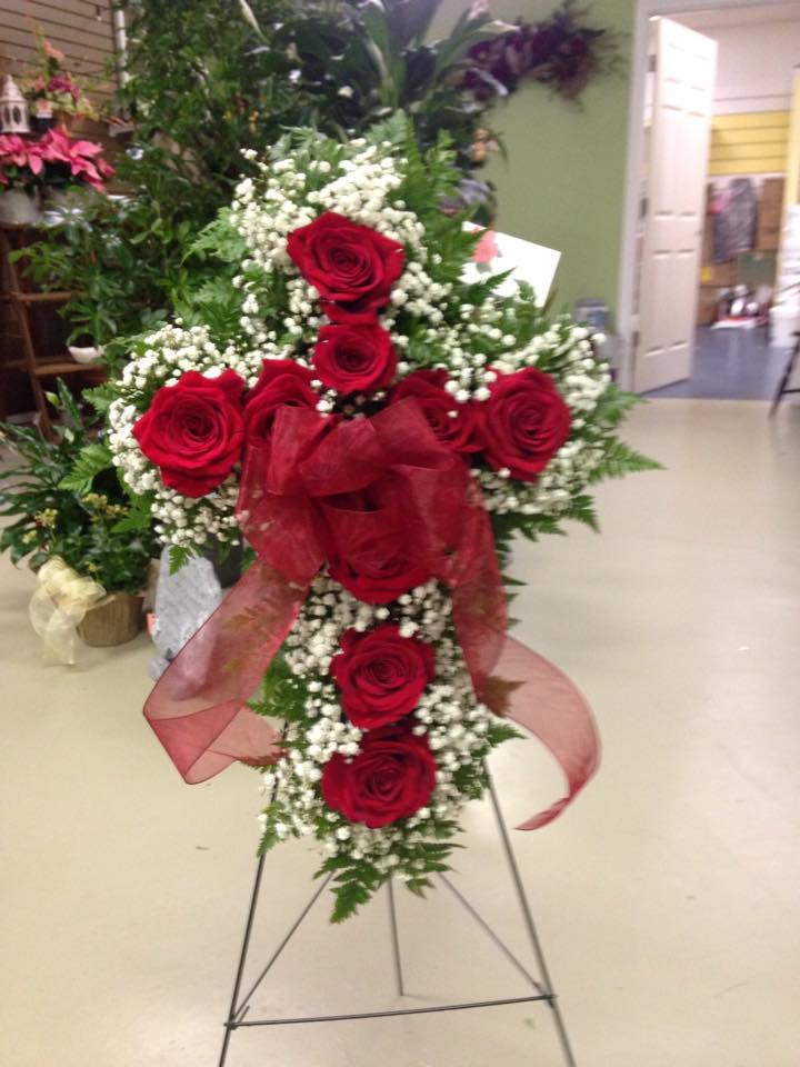 Lovely sympathy spray by Lexi Lu's Flower Shop in Lewistown, MO