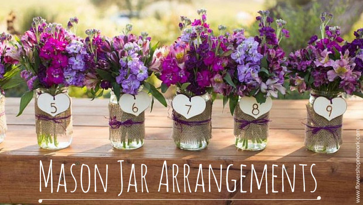 Wedding trends mason jar arrangements wedding trends mason jar arrangements junglespirit Choice Image