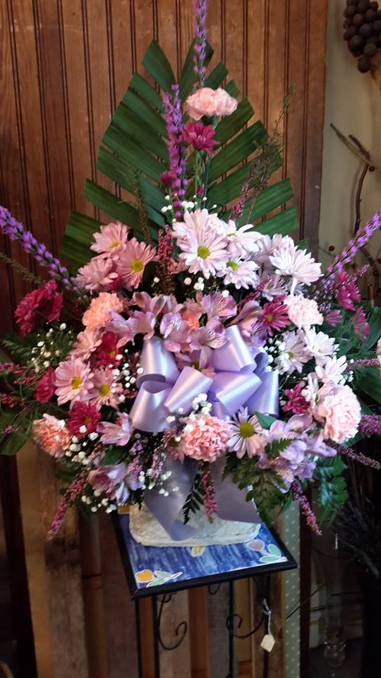 Sweet girly floral spray by Garden Gate Flower Shop in North Salem
