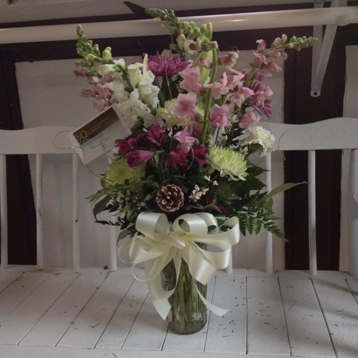 Timeless arrangement by Sweet Briar Flower Shop in Galaway, NY