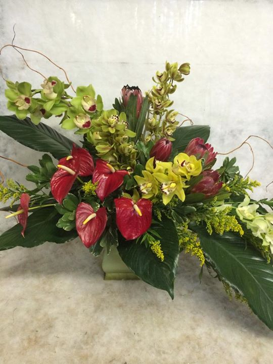 Tropical design by Hobby Hill Florist in Sebring, FL