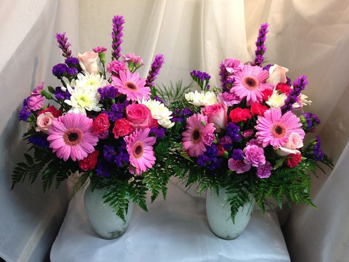 Two charming arrangements by Michele's Floral and Gifts in Copperas Cove, TX