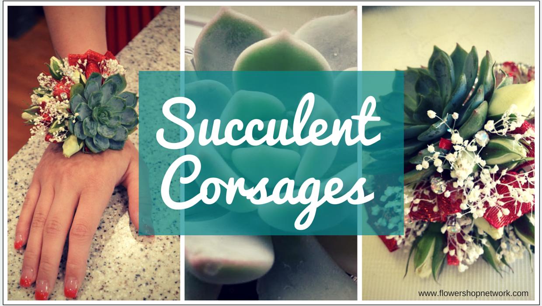 Trending Succulent Corsages