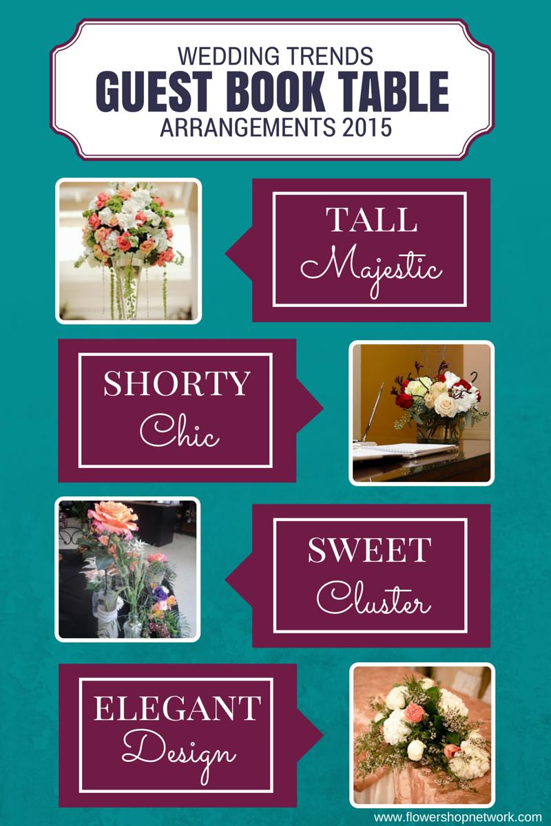 Wedding Trends: Guest Book Table Arrangements 2015