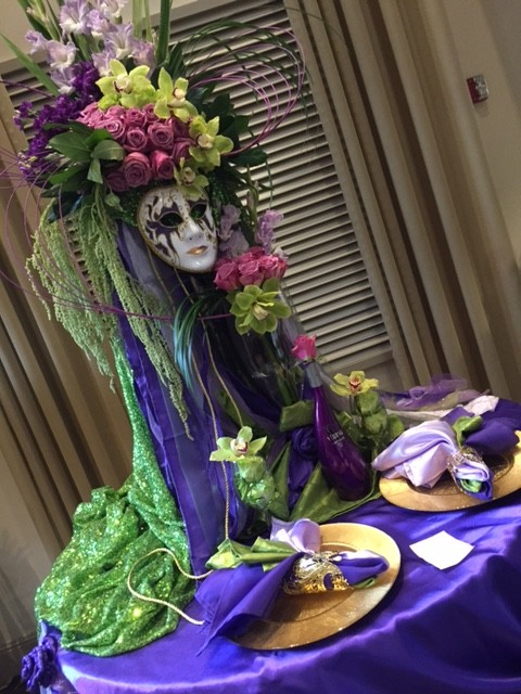 mask centerpiece