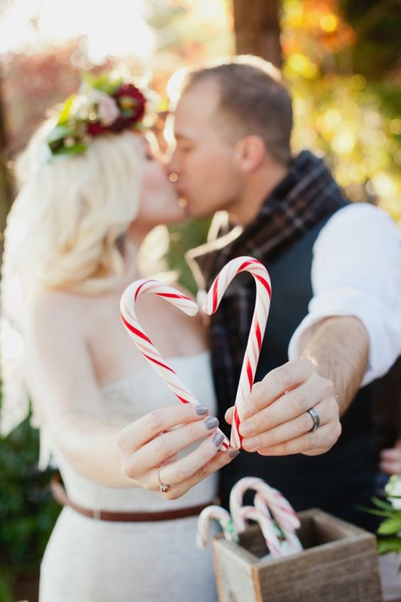 Festive christmas wedding ideas candy canes junglespirit Image collections