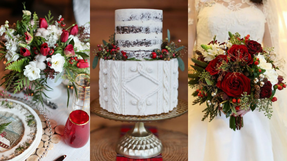 Festive christmas wedding ideas junglespirit Gallery