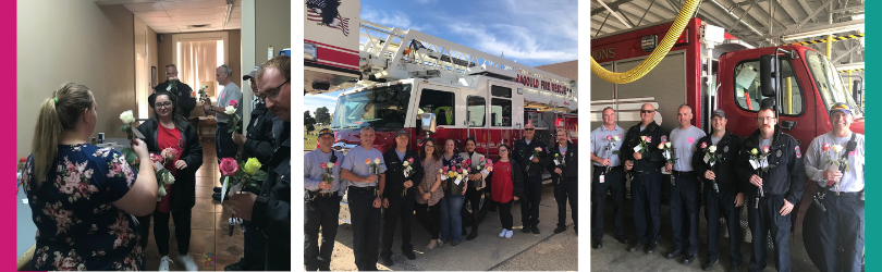 Petal It Forward at the Fire Station