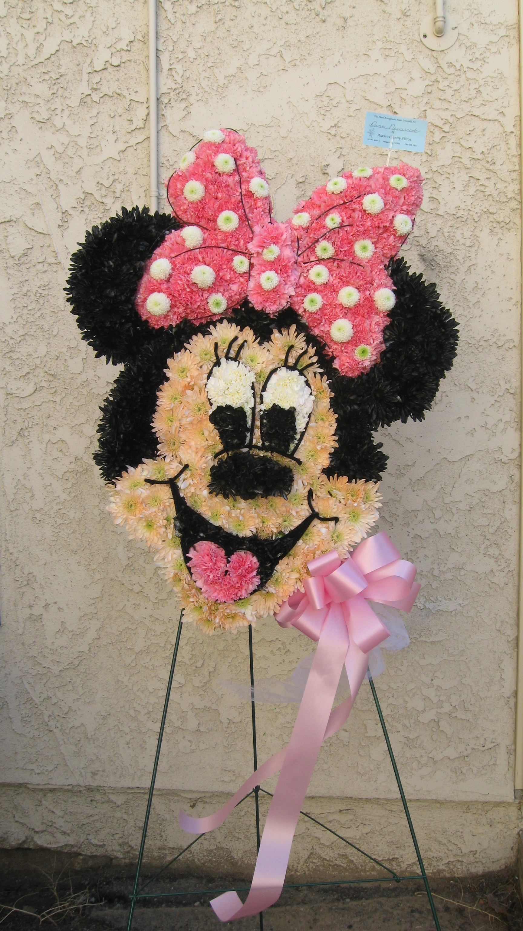 Personalized creative funeral flowers attached image minnie mouse for danni 12 28 2010 4g izmirmasajfo