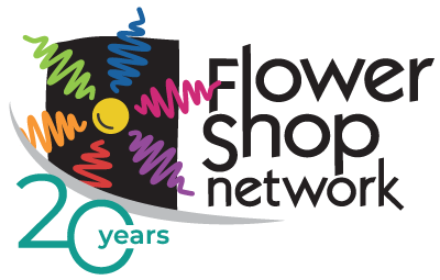 Flower Shop Network logo (20th anniversary)