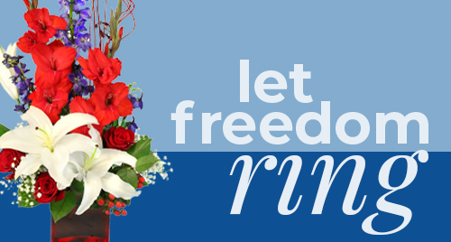 Happy Independence Day! Shop flowers today!