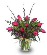 Arranged Tulips in a Vase - March 2005 FSN Newsletter