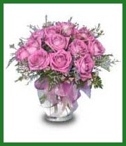 Romantic vase of Bluebird Roses